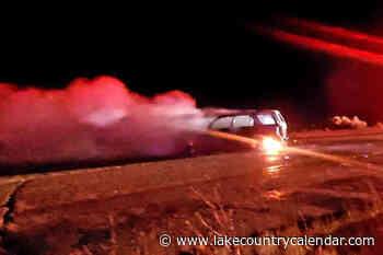 VIDEO: Car burns near Kalamalka lookout – Lake Country Calendar - Lake Country Calendar