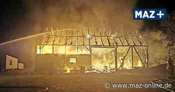 Scheunenbrände in Kremmen halten Feuerwehr in Atem - Märkische Allgemeine Zeitung