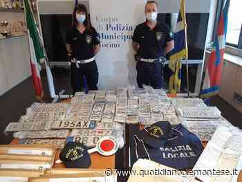 A Torino la Polizia Municipale sequestra 27 targhe rubate da un'autodemolizione dismessa - Quotidiano Piemontese