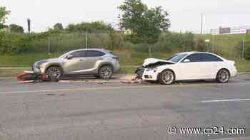Motorcyclist critically injured in collision in North York - CP24 Toronto's Breaking News