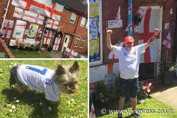 EUROS: Meet York's biggest England fans - Benny and his Yorkie Reg! - York Press