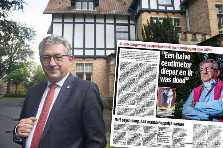 """Jaar geleden overleefde Brugse burgemeester Dirk De fauw moordpoging op klaarlichte dag: """"Golf van sympathie heeft me enorm gesterkt"""""""