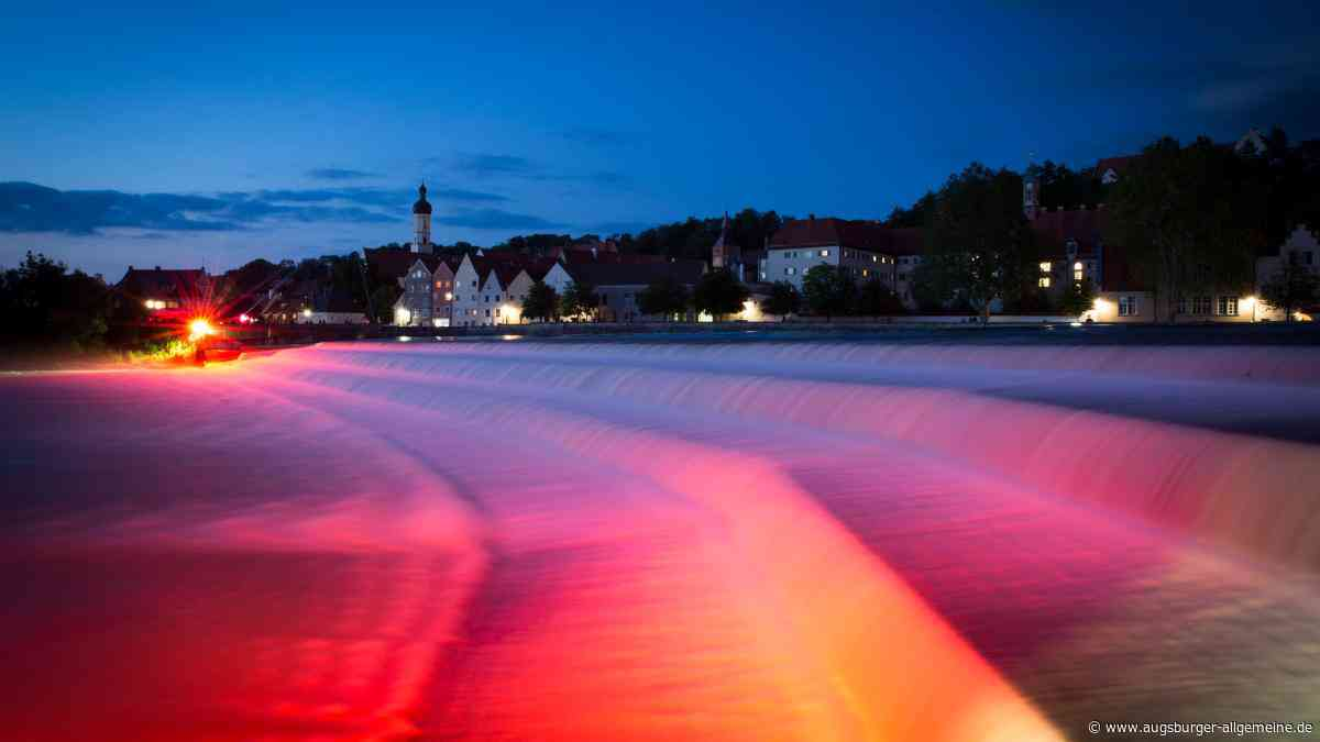 Am Dienstag leuchtet der Lech in Landsberg wieder rot - Augsburger Allgemeine