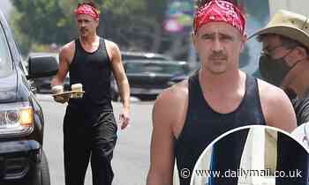 Colin Farrell steps out in his BARE FEET as he waits for coffee in the Los Feliz neighborhood of LA