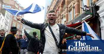 Euro 2020: Scotland fans arrive in London for England game – video - The Guardian