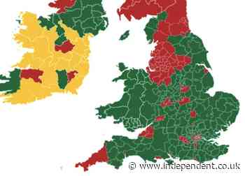 Jersey puts England and Scotland on the 'red list' - The Independent