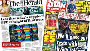 Scotland's papers: PPE stocks and Tartan Army on the march - BBC News