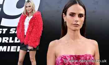 Jordana Brewster and Charlize Theron dazzle on red carpet at star-studded F9 world premiere in LA