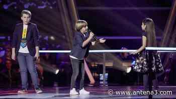 Santiago, Jesús y Alison cantan 'A puro dolor' en las Batallas de 'La Voz Kids' - Antena 3