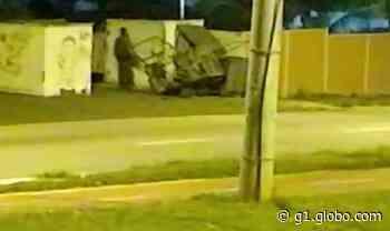 Homem furta grade de escola em Sorocaba; vídeo - G1