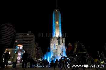 Rosario: el Monumento a la Bandera se ilumina de celeste y blanco - El Litoral