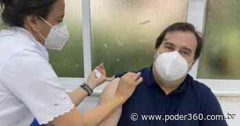 Rodrigo Maia é vacinado contra covid-19 no Rio de Janeiro - Poder360