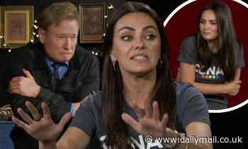 Mila Kunis does impersonation of Conan O'Brien when describing their run-in last July
