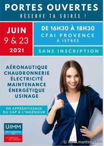 Istres : le CFAI Provence vous ouvre ses portes ce mercredi - Istres - Emploi - Maritima.info