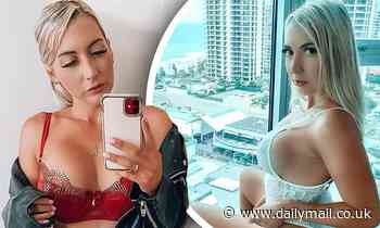 Rebecca Lobie strips down to her red lingerie and posts a racy mirror selfie