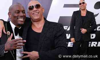 Vin Diesel and Tyrese Gibson at the long-awaitedpremiere of F9: The Fast Saga in LA
