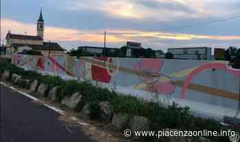 A Gragnano un murale per abbellire la barriera della ciclabile - Piacenza Online