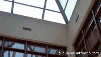 Un 'bombardeo' de granizo golpea el Parador de Santo Domingo - NueveCuatroUno