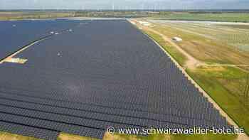 Großes vorhaben geplant - Ja zu Solarpark Dotternhausen - Schwarzwälder Bote