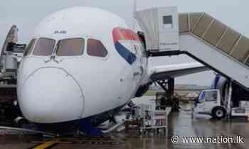 British Airways Dreamliner 787 nose COLLAPSES on the tarmac at Heathrow Airport - nation.lk - The Nation Newspaper