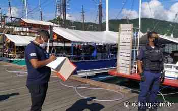 Fiscalização no Cais de Turismo de Paraty   Paraty   O Dia - O Dia