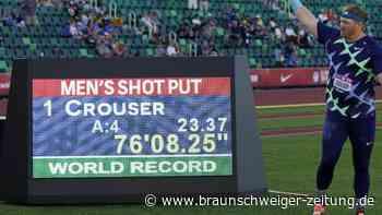 Nach 31 Jahren: Kugelstoßer Crouser löscht Uralt-Weltrekord