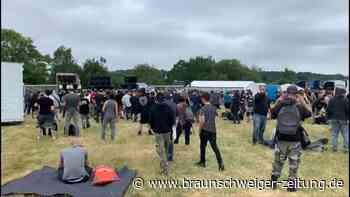 Illegaler Rave in der Bretagne ist nicht zu stoppen