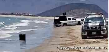 Encuentran tambo con restos humanos en playa El Cochórit - Proyecto Puente