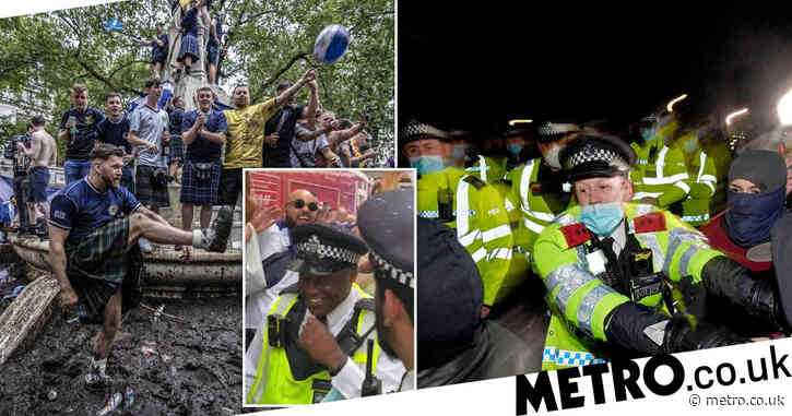 Police slammed for 'double standards' as huge crowds allowed to take over London