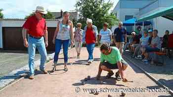 Freizeitaktivitäten in Niedereschach - Die Kugeln rollen wieder - Schwarzwälder Bote