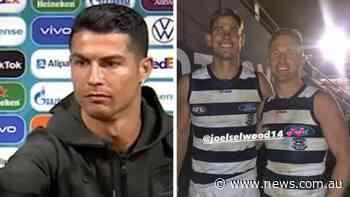 AFL star Tom Hawkins hilariously roasts Cristiano Ronaldo - NEWS.com.au