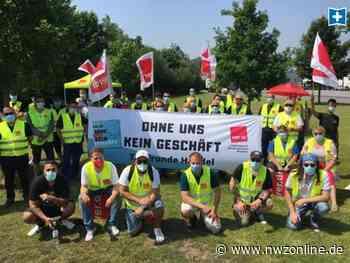 Verdi ruft in Wiefelstede zu Warnstreik auf: Edeka-Mitarbeiter streiken vor Logistikzentrum - Nordwest-Zeitung