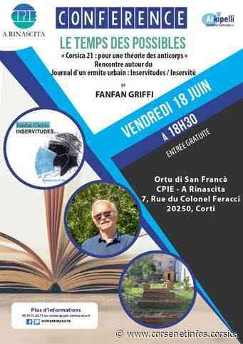 Corte : une rencontre-débat avec Fanfan Griffi   Brèves - Corse Net Infos