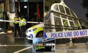 'Football fan', 27, is arrested after falling from the fourth floor of London hotel
