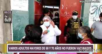 Oxapampa: Diversos adultos mayores de 60 y 70 años no fueron vacunados - Canal N