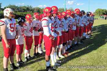 Moose Jaw Marauders roll to 42-7 victory over Weyburn to open South Sask Spring Football League - moosejawtoday.com