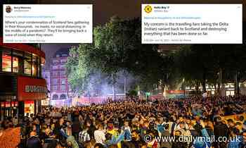 Scots react with fury as 20,000 Tartan Army fans party in the West End in London before Euros clash