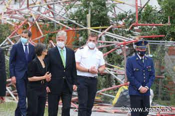 Instorting Antwerpse school: derde dodelijk slachtoffer geborgen, Koning Filip bezoekt plaats van de ramp