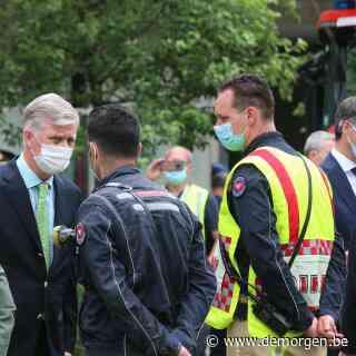 Derde lichaam geborgen na instorting school in Antwerpen: koning Filip en premier De Croo ter plaatse