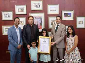 Indian girl in UAE felicitated by consul general of India - The Siasat Daily