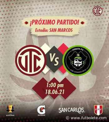 Ver en vivo UTC Cajamarca vs Pirata por los octavos de final de la Copa Bicentenario de Perú - Futbolete