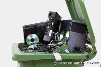 County offering curbside pickup of old electronics next week - OrilliaMatters