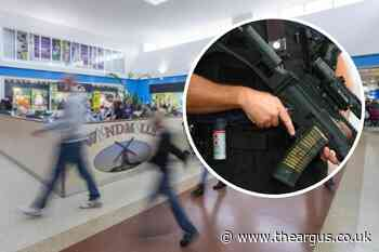 Two men arrested and gun seized at Tesco in Langney Shopping Centre, Eastbourne