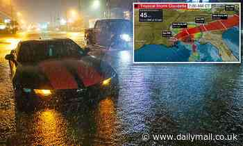 Woman in labor is stranded in floodwater after Tropical Storm Claudette thrashed the Gulf Coast