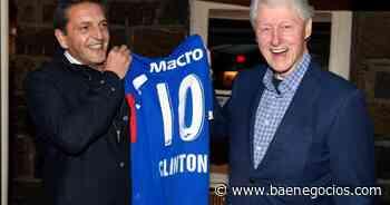 Massa cenó con Clinton y le regaló una camiseta de Tigre - Bae Negocios