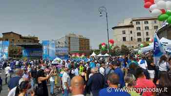 """Elezioni Roma 2021, palco 'azzurro' alla Bocca della Verità. Salvini: """"Lavoriamo per togliere mascherine all'aperto"""""""