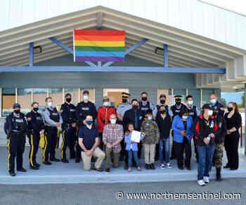 Kitimat RCMP host pride flag ceremony in memory of Diversity Morgan – Kitimat Northern Sentinel - Kitimat Northern Sentinel