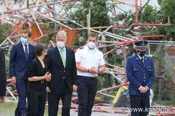Instorting Antwerpse school: Koning Filip bezoekt plaats van de ramp, vijf vermisten overleden