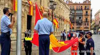 La Plaza de San Francisco acoge el izado solemne de la bandera de España con motivo del Centenario de la Base Aérea de Tablada - Ayuntamiento de Sevilla