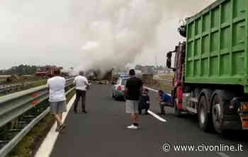 Camion in fiamme sulla Roma-Civitavecchia: morto carbonizzato il conducente - Civonline